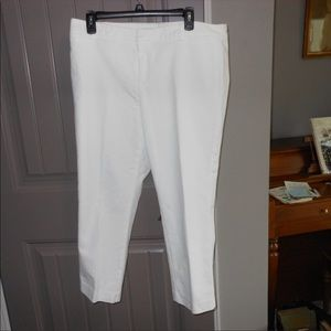 White Tommy Hilfiger size 14 Ankle Pants